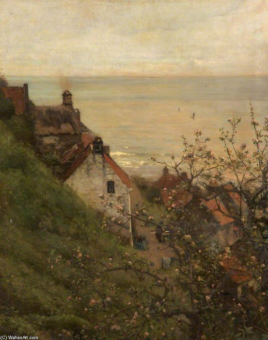 Robin Hoods Bay, North Yorkshire di Frederick William Jackson (1843-1942, United States)