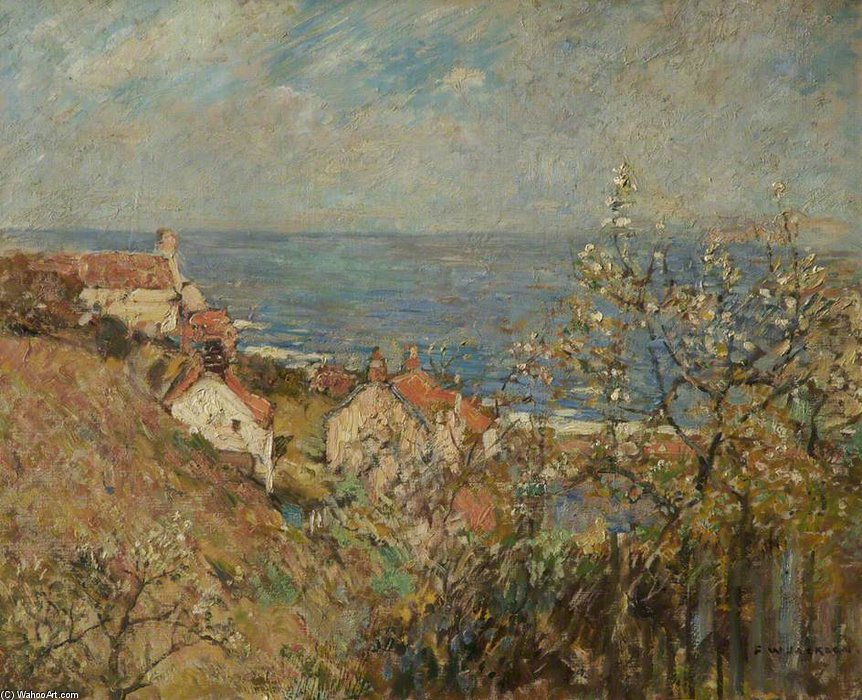 Runswick Bay di Frederick William Jackson (1859-1918, United Kingdom)