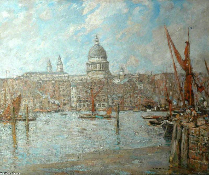 Cattedrale di st Paul's , Londra di Frederick William Jackson (1843-1942, United States)