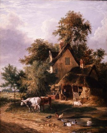 Farmyard Scene di George Vincent (1796-1831, United Kingdom)