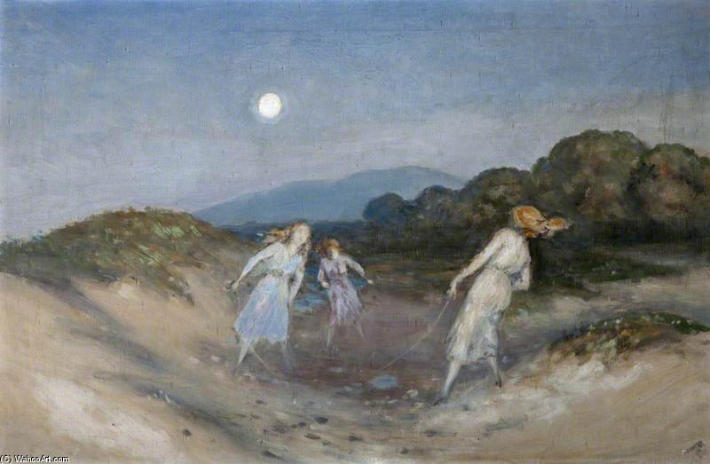 The Rope Skipping di George William Russell (1867-1935, Ireland) | ArtsDot.com