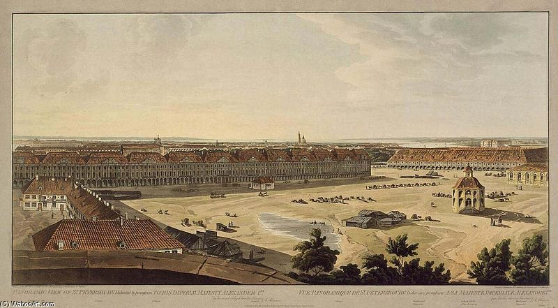 Spb Panoramic View On Twelve Colleges di John Augustus Atkinson (1775-1833, United Kingdom)