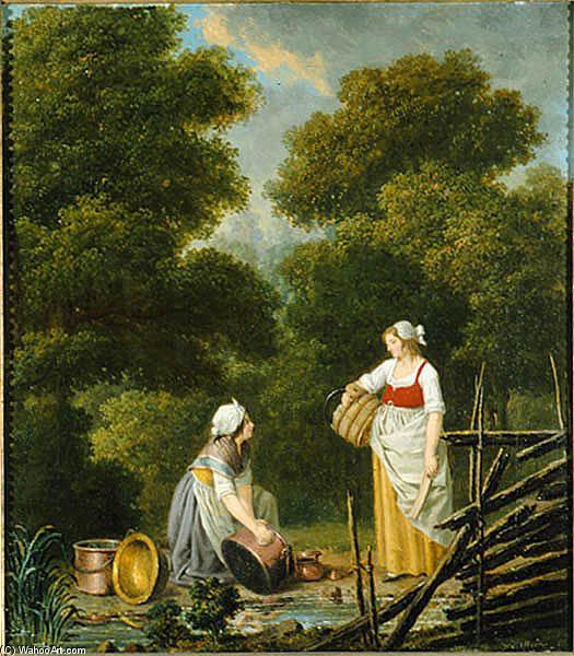 Due cameriere in un torrente di Pehr Hillestrom (1732-1816, Sweden)
