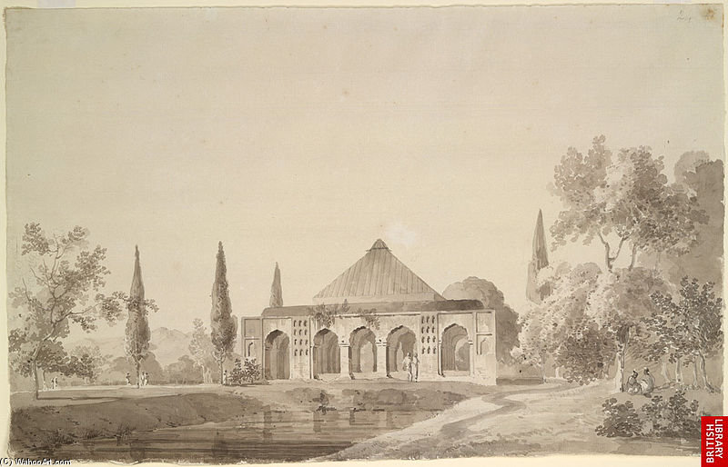 Di Jahangir Khan Giardino, Najibabad di Thomas And William Daniell (1769-1837, United Kingdom)