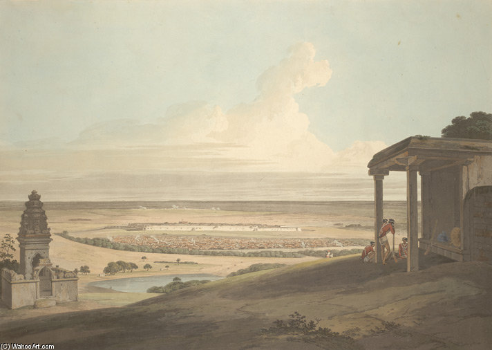 Ousoor In Mysore di Thomas And William Daniell (1749-1840, United Kingdom)