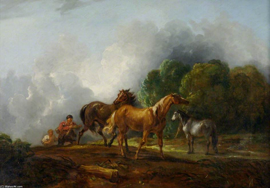 Catching Colts di Thomas Barker (1769-1847, United States)