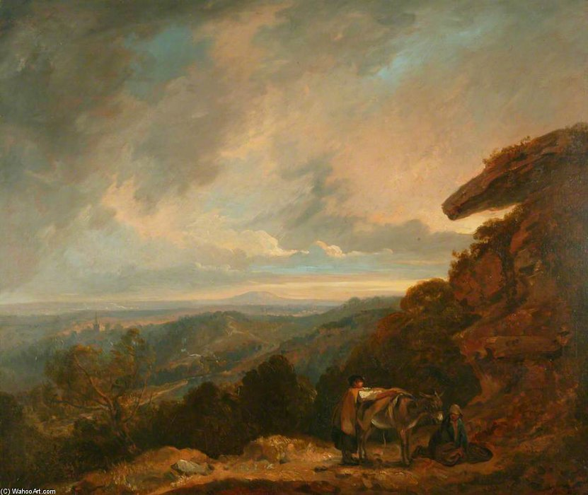 Distant View Of Malvern di Thomas Barker (1769-1847, United States)