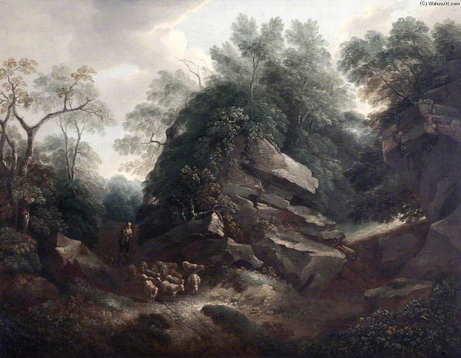 Hampton Rocce , Mattino di Thomas Barker (1769-1847, United States)