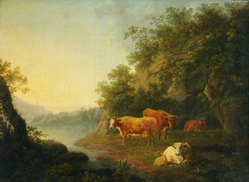 Landscape With Cattle - di Thomas Barker (1769-1847, United Kingdom)