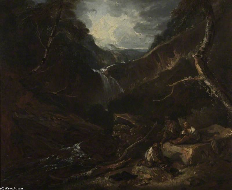 Mountain Glen E Torrent di Thomas Barker (1769-1847, United Kingdom)