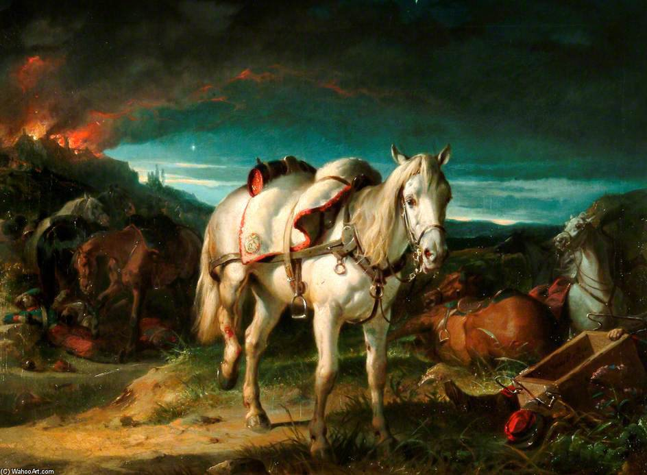 Riderless Cavallo dopo il battaglia di sedan di Thomas Barker (1769-1847, United Kingdom)