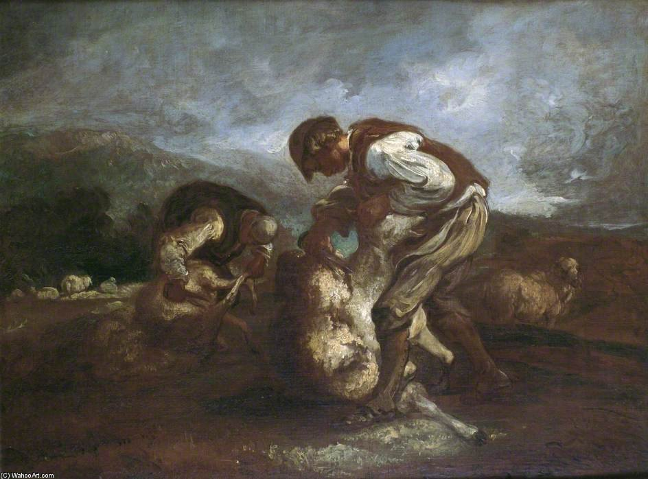 Sheep Shearing di Thomas Barker (1769-1847, United Kingdom)