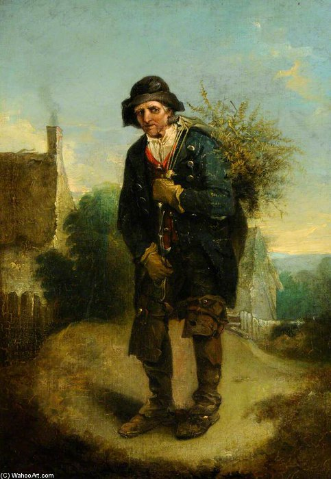 The Woodman - di Thomas Barker (1769-1847, United States)