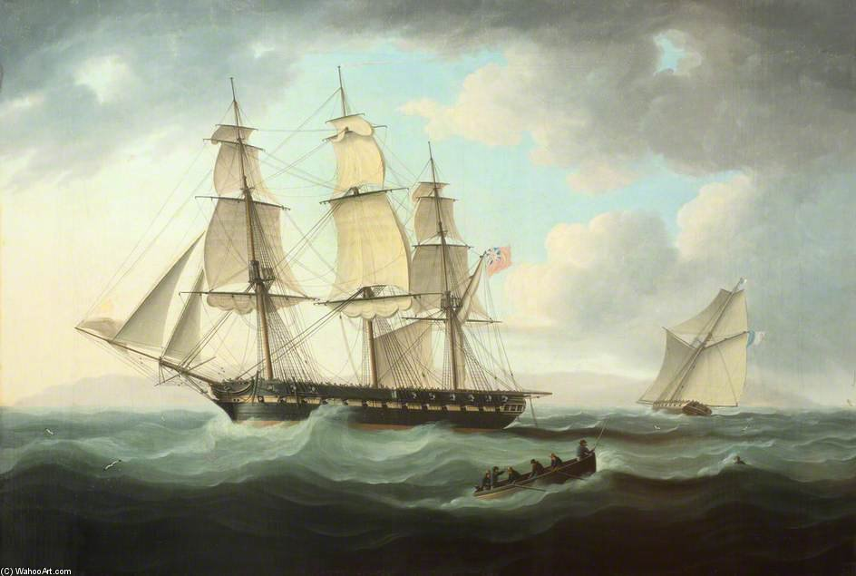 Frigate e Cutter di Thomas Buttersworth (1768-1842, United Kingdom) | Riproduzione Art | ArtsDot.com
