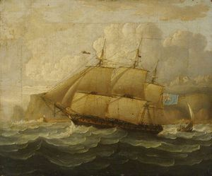 Thomas Buttersworth - Hms leander At Sea