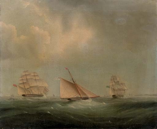 Spedizione in Channel di Thomas Buttersworth (1768-1842, United Kingdom)