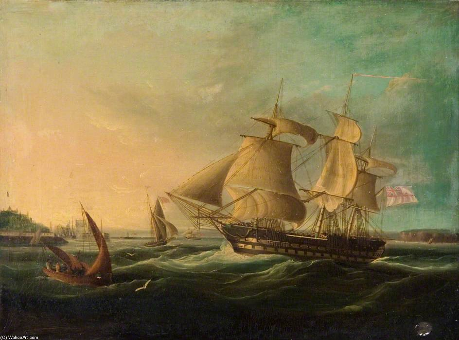 spedizione off il costa di Thomas Buttersworth (1768-1842, United Kingdom)
