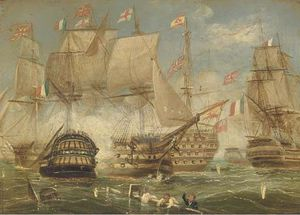 Thomas Buttersworth - La Battaglia di Trafalgar -