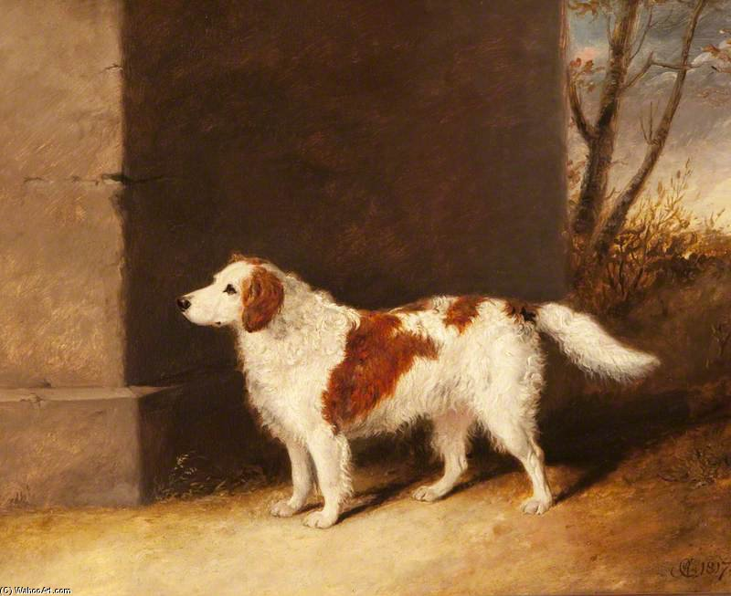 The Dog Preferito di Lord Charles Vere Ferrers Townshend di Abraham Cooper (1787-1868, United Kingdom)