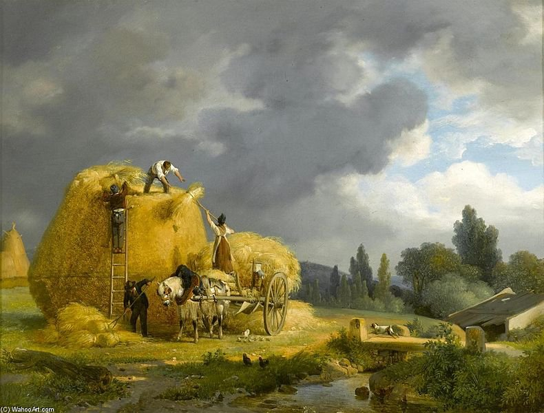 The Harvest di Auguste Xavier Leprince (1799-1826, France)