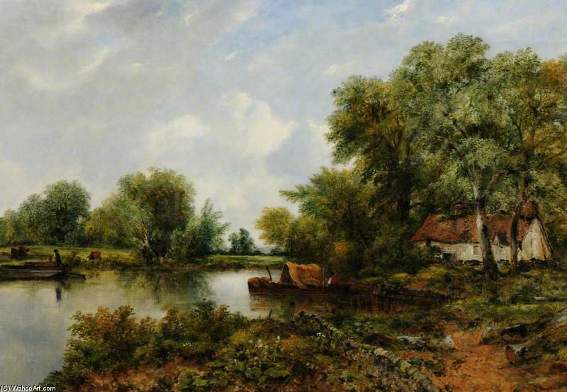 Un quartiere tranquillo nel Suffolk di Frederick Waters Watts (1800-1870, United Kingdom)