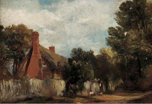 agriturismo a Hill's Cresta , Est Bergholt di Frederick Waters Watts (1800-1870, United Kingdom)