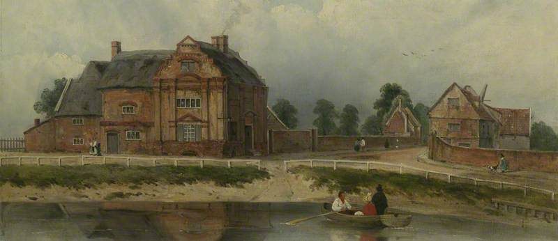 Re Hall, Wisbech di Frederick Waters (William) Watts (1800-1870, United Kingdom)