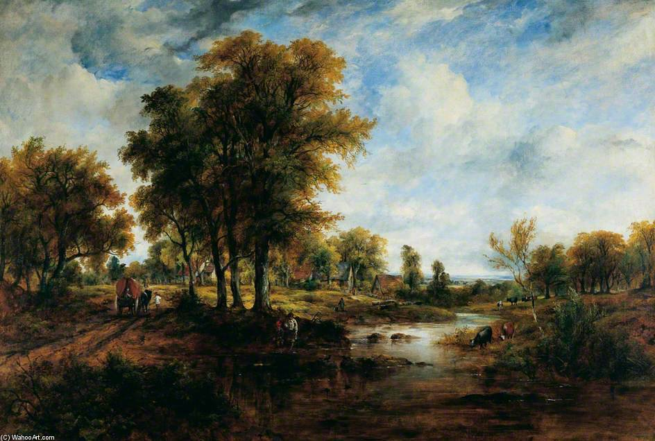 paesaggio di Frederick Waters (William) Watts (1800-1870, United Kingdom)