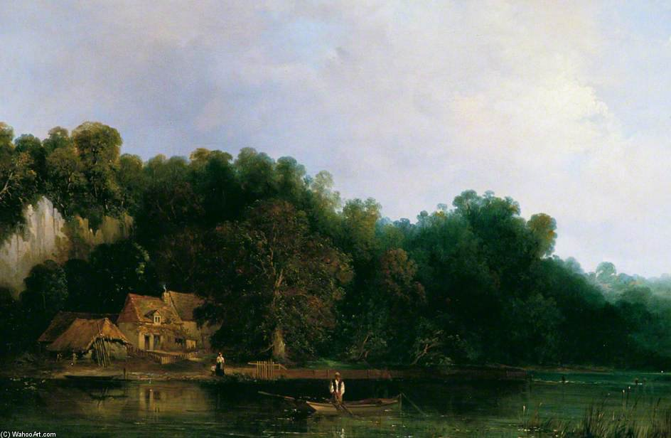 Vista Del Tamigi Da Tilehurst di Frederick Waters Watts (1800-1870, United Kingdom)