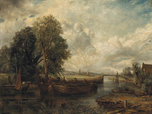 visualizza sulla stour vicino a dedham di Frederick Waters Watts (1800-1870, United Kingdom)