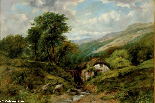 Welsh Valley di Frederick Waters (William) Watts (1800-1870, United Kingdom)