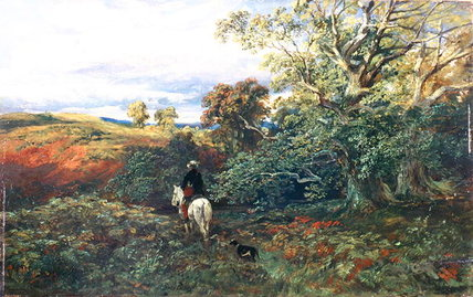 Dingley Dell, Montrose di Samuel Bough (1822-1878, United Kingdom)