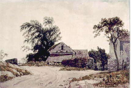 Cottages Roadside di Augustus Wall Callcott (1779-1844, United Kingdom)
