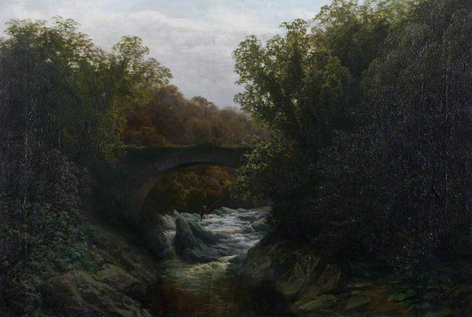 Old Bridge Of Cally di David Farquharson (1839-1907, United Kingdom)