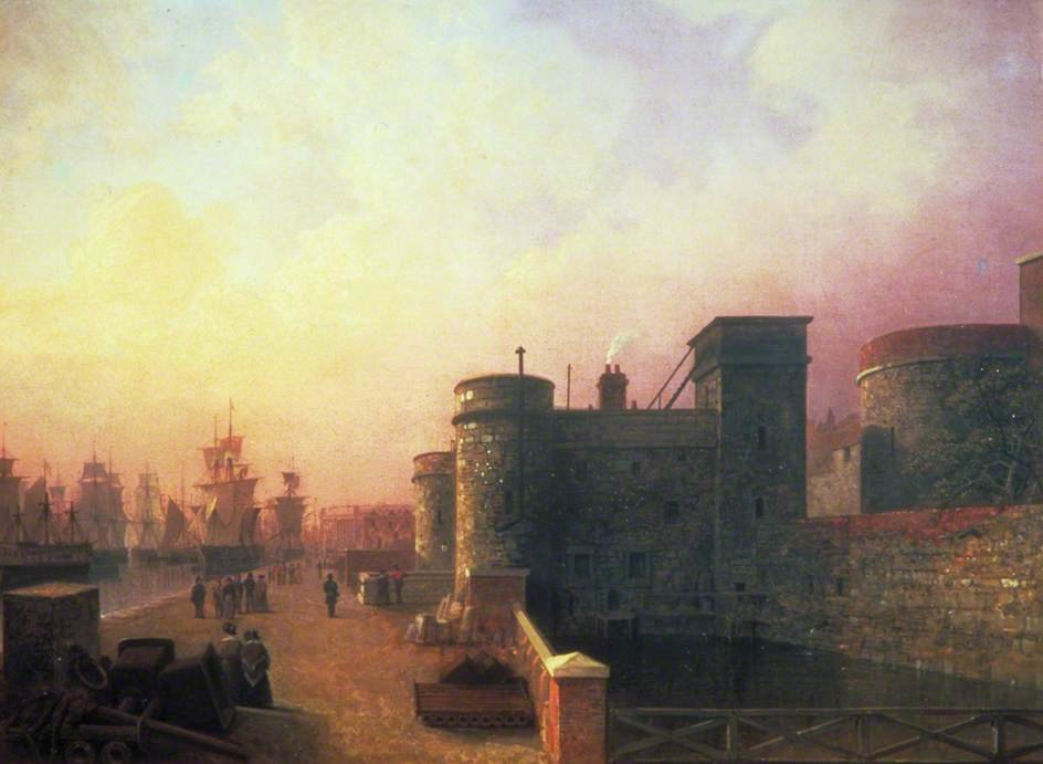 Traitor's Cancello , torre di Londra di Henry Pether (1828-1865, United Kingdom) | ArtsDot.com