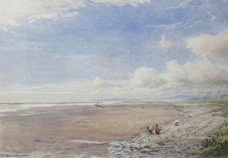 Beach Scene A Morfa Bychan di Thomas Collier (1620-1691, United Kingdom)