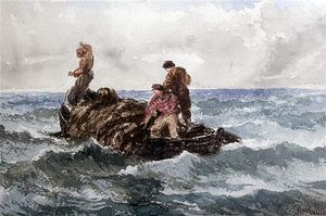 Thomas Collier - Pescatori At Seafishermen At Sea