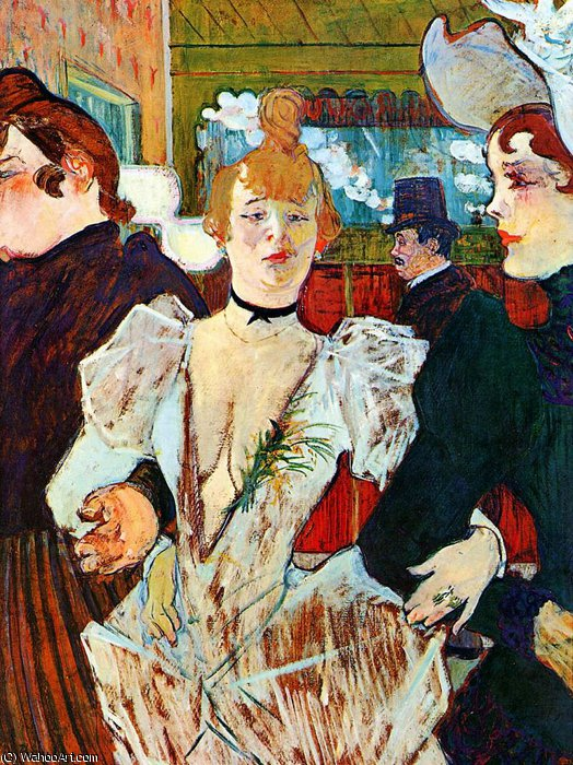 entrare moulin rouge sole di Henri De Toulouse Lautrec (1864-1901, France)