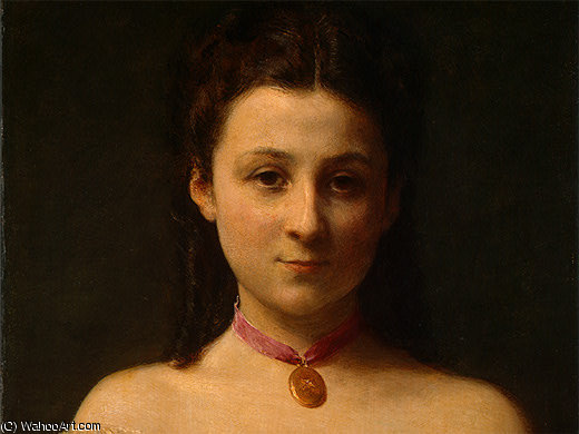 Mademoiselle de Fitz James (part 1) -, 1867 di Henri Fantin Latour (1836-1904, France)