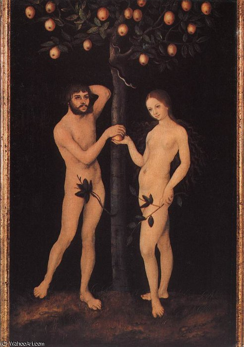 Adam e Eve di Lucas Cranach The Elder (1472-1553, Germany)