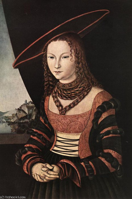 ritratto di una donna di Lucas Cranach The Elder (1472-1553, Germany)