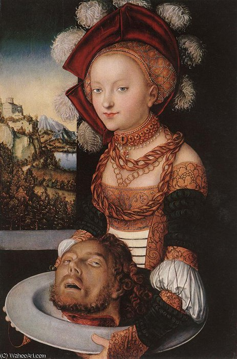 salome, 1530 di Lucas Cranach The Elder (1472-1553, Germany)