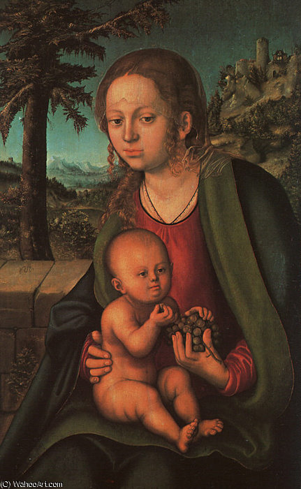 Madonna con il grappolo d uva di Lucas Cranach The Elder (1472-1553, Germany)