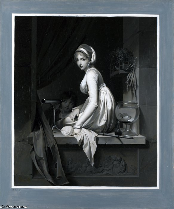 una ragazza ad una finestra di Louis Léopold Boilly (1761-1845, France)