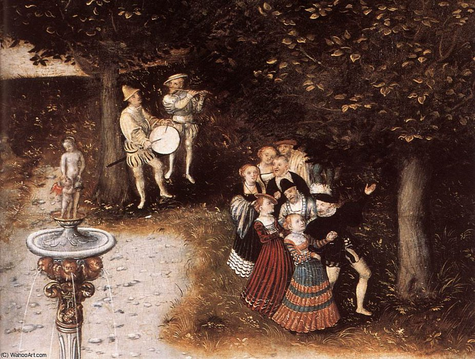 Fountain of Youth (particolare) 5 di Lucas Cranach The Elder (1472-1553, Germany)