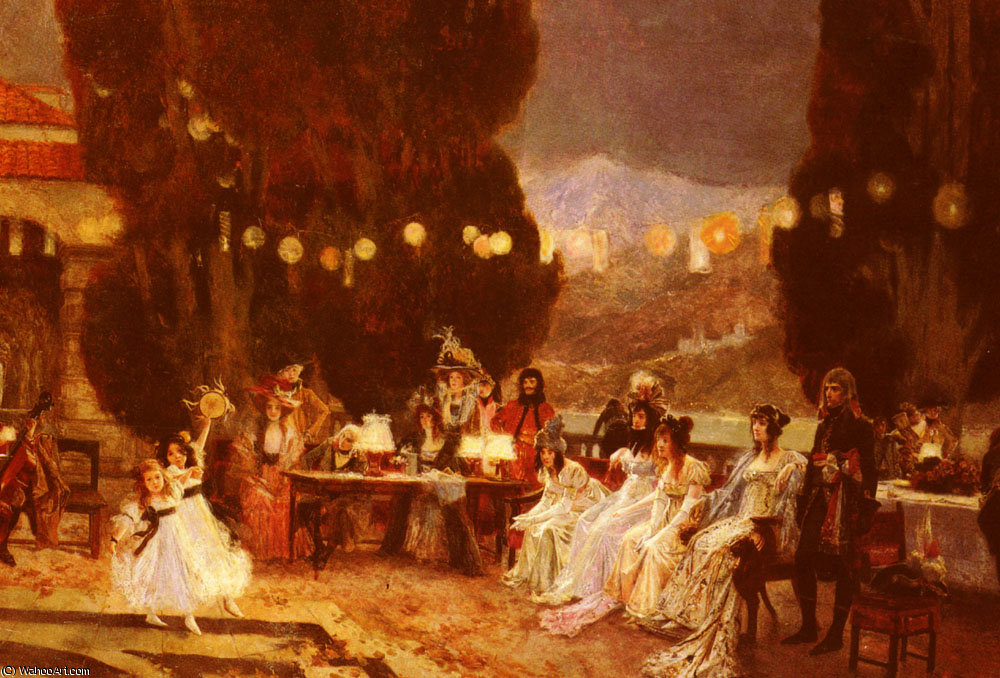 Un evening-s intrattenimento per josephine di Francois Flameng (1856-1923, France)