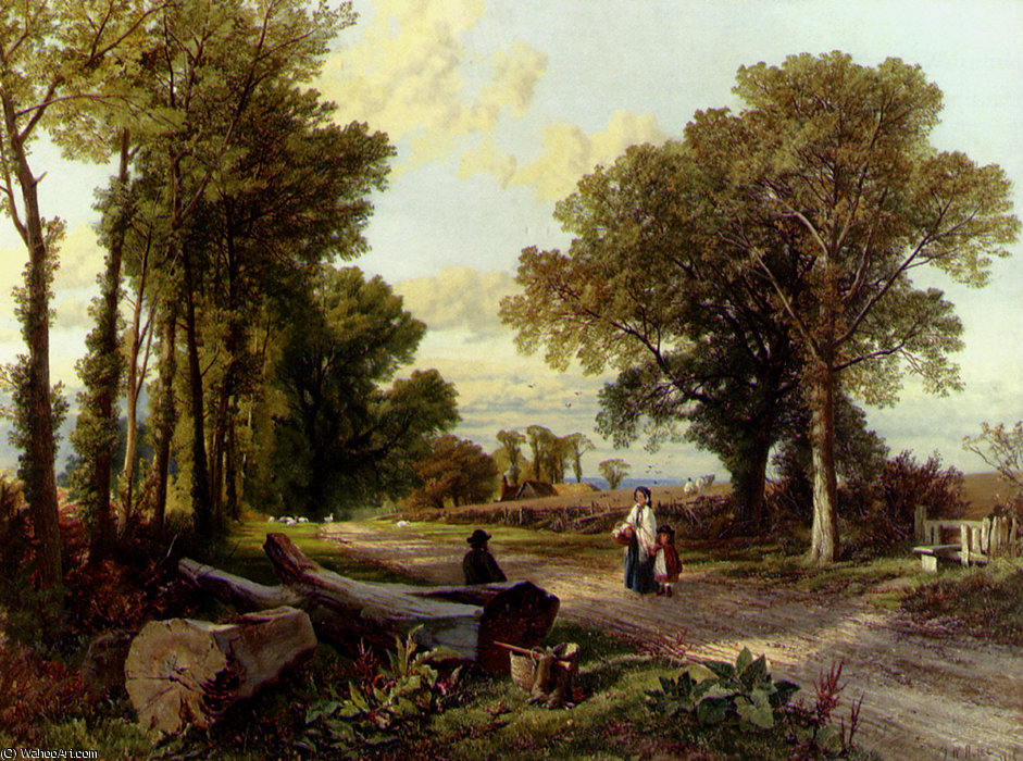 Una conversazione Wayside di Frederick William Hulme (1816-1884, United Kingdom)