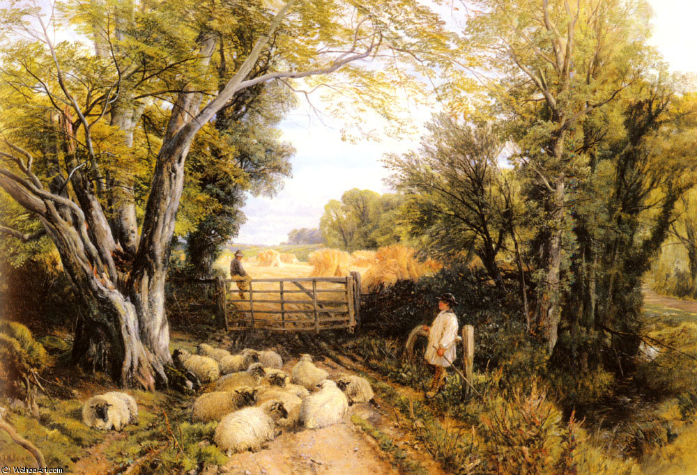 Paesaggio in Galles di Frederick William Hulme (1816-1884, United Kingdom)