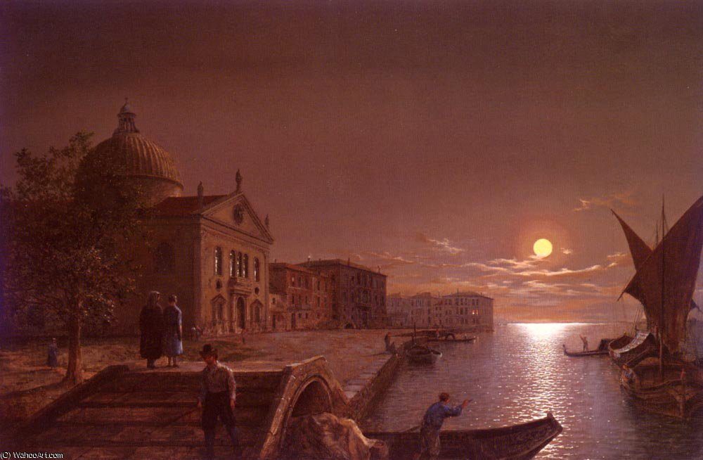 Moonlight a venezia di Henry Pether (1828-1865, United Kingdom) | ArtsDot.com