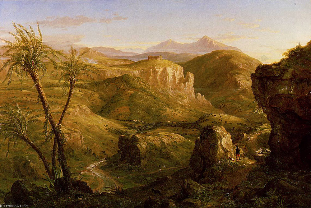 Le Vale e Tempio di Segesta in Sicilia di Thomas Cole (1801-1848, United Kingdom)